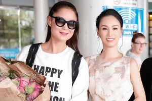 Hoa hậu Paris Vũ duyên dáng đi đón siêu mẫu Nga kiêm nữ chủ tịch FashionTV