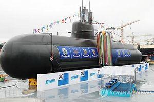 Hải quân Hàn Quốc hạ thủy tàu ngầm mới tự phát triển đầu tiên