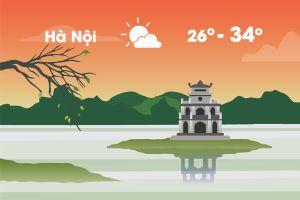 Thời tiết ngày 15/9: Hà Nội nóng 34 độ C, Sài Gòn mưa