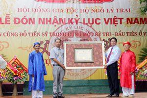 Dòng họ nhận kỷ lục Guinness Việt Nam vì có 5 đời liên tiếp đỗ tiến sĩ