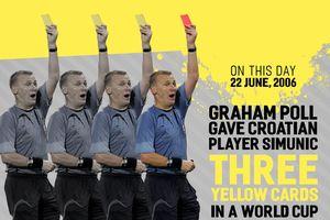 Trọng tài Anh rút 3 thẻ vàng cho một cầu thủ tại World Cup 2006