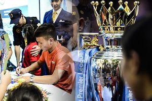Quang Hải hút fan trong ngày cùng bầu Hiển đón cúp Ngoại hạng Anh