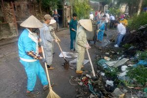 Thanh Trì - Hà Nội: Ra quân tổng vệ sinh môi trường phòng chống dịch bệnh