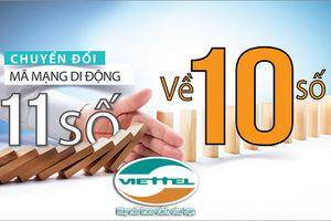 Hướng dẫn chuyển đổi danh bạ thuê bao Viettel từ 11 số sang 10 số