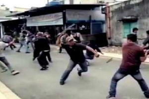 Hỗn chiến náo loạn cả khu phố, 4 người bị thương