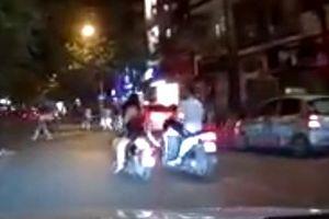 Clip thanh niên Hà Nội đạp xe 2 cô gái, tổ lái Lào Cai chết thảm vì lao vào xe tải
