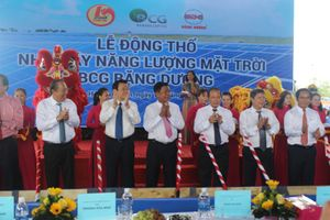 Khởi công dự án điện mặt trời 42 triệu USD ở Long An