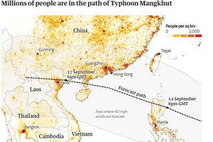 Siêu bão Mangkhut có thể 'thổi bay' 120 tỷ USD tại châu Á