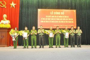 Công bố quyết định sáp nhập Cảnh sát PCCC tỉnh vào Công an tỉnh
