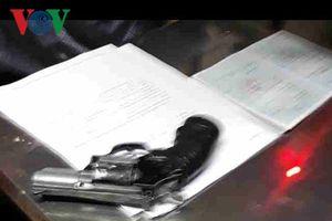 Bắt giữ nghi phạm dùng súng cướp ngân hàng ở Tiền Giang