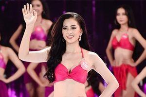 Cận cảnh vẻ nỏng bỏng top 3 Hoa hậu Việt Nam 2018 với bikini