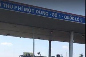 Lái xe tiếp tục phản đối Trạm thu phí BOT QL5
