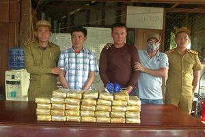 Bắt giữ 2 đối tượng người Lào vận chuyển 200.000 viên ma túy tổng hợp
