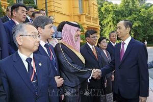 Chủ tịch Nước Trần Đại Quang tiếp các trưởng đoàn dự Đại hội ASOSAI 14