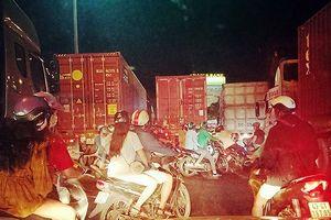 Đà Nẵng: 5 ngày xử lý gần 70 xe container vi phạm trên đường Ngô Quyền