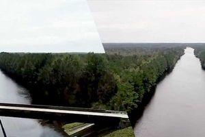 Cận cảnh xa lộ hiện đại biến thành sông tại Mỹ