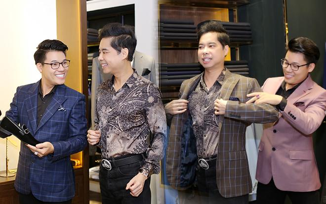 Quán quân 'Thần tượng Bolero' Duy Cường được cha nuôi Ngọc Sơn dẫn chọn trang phục trước ngày tổ chức Liveshow