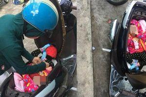 Đặt con nhỏ nằm trong cốp xe, bà mẹ khiến dân mạng tranh cãi gay gắt