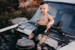 Bộ ảnh chất lừ của cậu bé Minh Triết 12 tháng tuổi