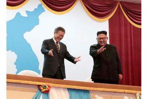 Hình ảnh lịch sử Tổng thống Hàn Quốc thăm Triều Tiên