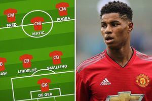Đội hình dự kiến của MU trước Young Boys: Mourinho dùng sơ đồ 4-3-3?