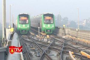 Xem 5 đoàn tàu tuyến Cát Linh - Hà Đông chạy thử