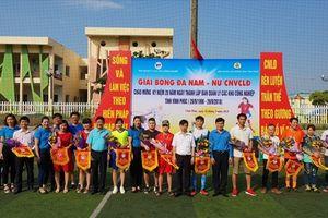 Vĩnh Phúc: Khai mạc Giải bóng đá nam, nữ CNVCLĐ năm 2018