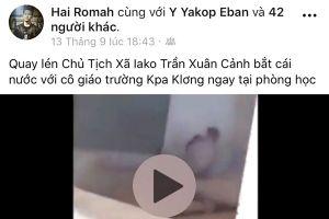 Chủ tịch xã bị vu khống bằng clip nóng trên Facebook