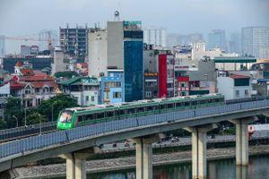 Chạy thử tàu đường sắt trên cao tuyến Cát Linh-Hà Đông