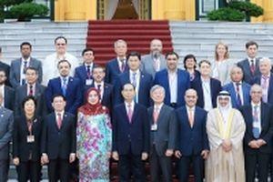 Chủ tịch nước Trần Đại Quang tiếp các Trưởng đoàn dự Đại hội ASOSAI 14; Chánh án TAND tối cao Trung Quốc