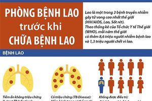 Những việc cần làm để phòng ngừa bệnh lao
