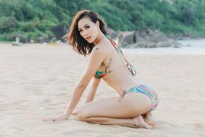 Phương Mai mặc bikini bốc lửa, khoe hình xăm ấn tượng