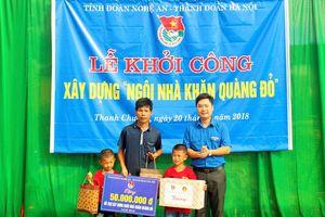 Khởi công xây dựng 'Ngôi nhà khăn quàng đỏ' cho gia đình học sinh nghèo ở Thanh Chương