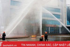 Thực hành phương án cứu hỏa khi cháy Nhà máy Nhiệt điện Vũng Áng