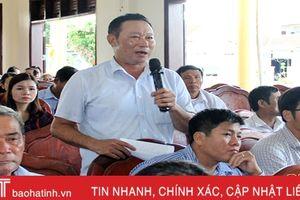 Đoàn ĐBQH Hà Tĩnh tiếp xúc với cử tri Thạch Hà, Hương Sơn