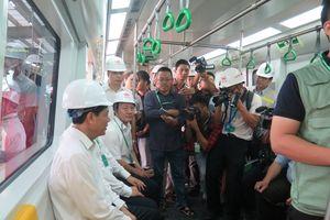 Đường sắt Cát Linh-Hà Đông ngày đầu tiên chạy thử toàn tuyến