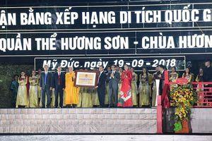 Chùa Hương đón nhận Bằng xếp hạng Di tích Quốc gia đặc biệt