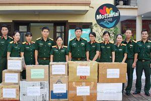 Đoàn 18, Bộ Tham mưu, Tổng cục Kỹ thuật, Bộ Quốc phòng tặng 11 thùng đồ cho Mottainai mùa thứ 6