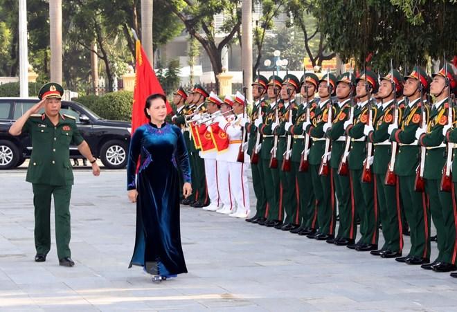 Chủ tịch Quốc hội dự Lễ khai giảng tại Học viện Quốc phòng