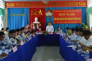 Mặt trận Ninh Thuận: Tập trung triển khai tổ chức đại hội điểm