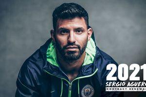 Aguero gia hạn hợp đồng, mong muốn ở lại Man City trong một thập kỷ