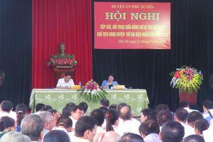 Lãnh đạo huyện Phú Xuyên đối thoại để làm rõ nhiều vấn đề dân sinh