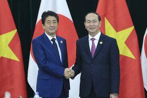 Thủ tướng Nhật Bản gửi điện chia buồn Chủ tịch nước Trần Đại Quang từ trần