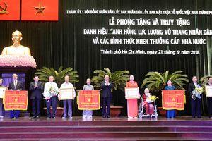 TP Hồ Chí Minh: 5 tập thể, cá nhân được phong tặng, truy tặng danh hiệu Anh hùng Lực lượng vũ trang nhân dân