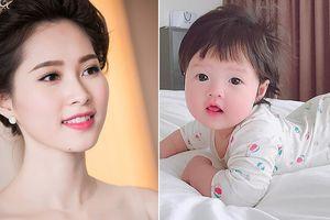Hoa hậu Đặng Thu Thảo lần đầu khoe con gái đáng yêu tròn 6 tháng tuổi