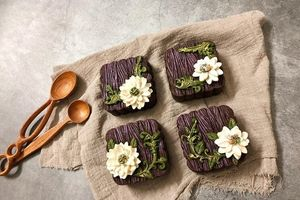 Choáng váng với vẻ đẹp sặc sỡ, mê hồn, trăm hoa đua nở của bánh Trung thu handmade