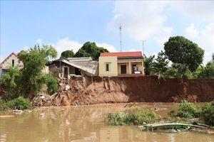 Hải Dương di dời khẩn cấp các hộ dân bị ảnh hưởng do sạt lở bãi sông