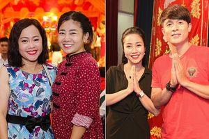 Mai Phương tươi tắn cùng Ốc Thanh Vân đến sân khấu của NSND Hồng Vân cúng giỗ Tổ nghề