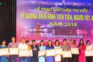 39 tác phẩm đạt giải Cuộc thi viết về người tốt việc tốt thành phố Hà Nội 2018