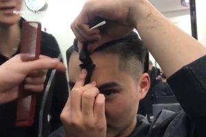 Anh chàng tự cắt kiểu tóc tài tử Hàn Quốc và cái kết